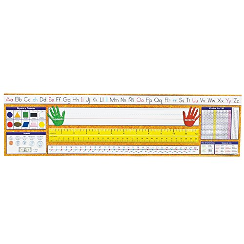 Spanish Alphabet Line - North Star Teacher NST9007BN Desk Plate, Spanish Manuscript, 3 Packs/CT