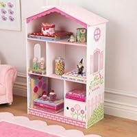 Dollhouse Bookcase 38 Wooden Cottage Kids Indoor Furniture Storage Books Girls Fun Toys