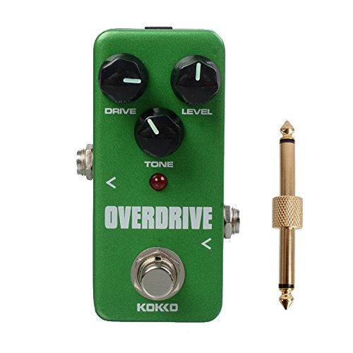 KOKKO FOD3 Portable Mini Overdrive Guitar Effect Pedal With Gold Straight Pedal Connectors,MusicOne