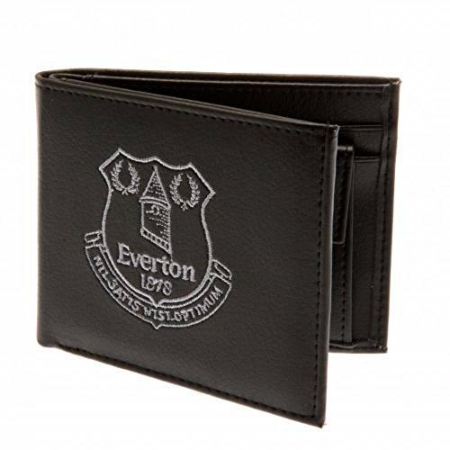 Everton FC Official Mens Embroidered Soccer Crest Wallet (One Size) (Black)