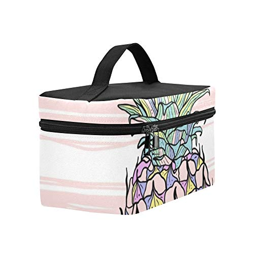 colorful pineapple lunch tote bag