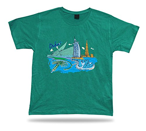 Mondo Arab Body T Il Al spirit Dubai n Palma Khalifa Mappa Del Green shirts soul Tee Mall Burj Isola trzwrqa