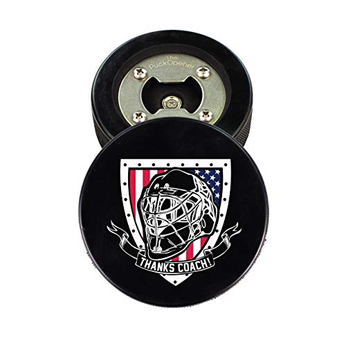 Hockey Coach Gift, Bottle Opener made from a REAL Hockey Puck, Thanks Coach, Cap Catcher, Coaster