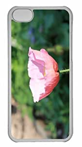 Customized iphone 5C PC Transparent Case - Flower 74 Personalized Cover
