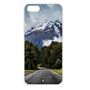CaseSuper Mount Everest T3 Natures Designs Apple iPhone 5S Seamless Case (White)