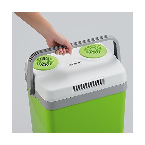 41pZ9tja56L SEVERIN Elektrische Kühlbox (20 L) mit Kühl- und Warmhaltefunktion, Auto Kühlbox mit 2 Anschlüssen (Netzteil…