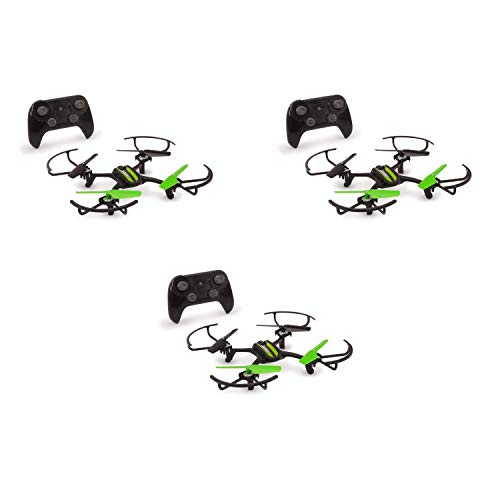 Sky Viper Fury Stunt RC Indoor Outdoor Drone Quadcopter with Auto Pilot (3 Pack)