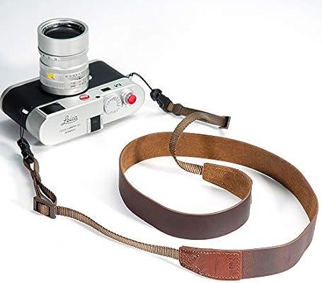 CANPIS Crazy Horse Leather Handmade Correa para el hombro de la ...