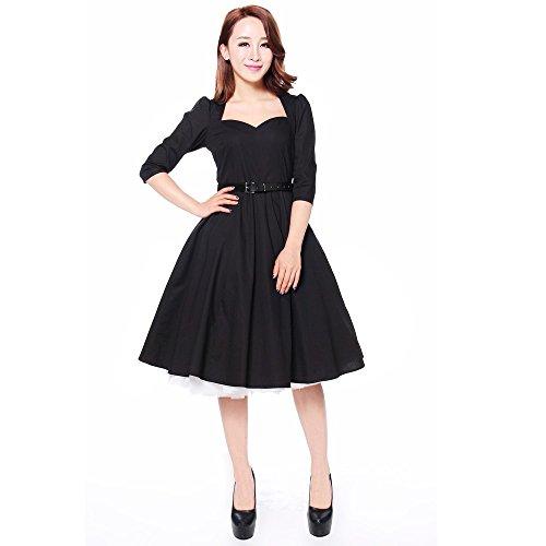 56 42 liebsten Chic 54 Bogen 46 Stil 50 großen 60 Jahre 44 Star Rockabilly 40 50er Kleid Größen schwarz 58 36 52 mit 6wx6CRq