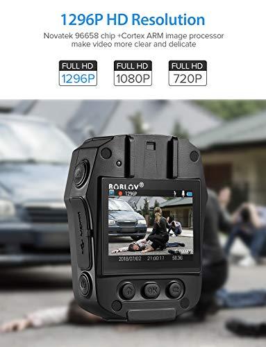 BOBLOV Body Worn Cam 1296P Portable Body Mounted Camera ...