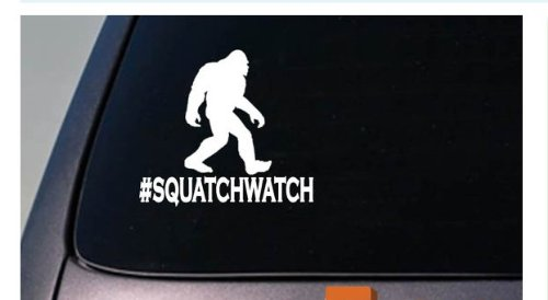 EZ-STIK Squatchwatch Bigfoot Decal Yeti Sasquatch Camper Sticker Hiking campingD688