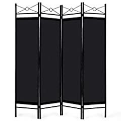 Description: Featuring 4 folding panels and freestandingdesign, this room divider is perfect to provide a privacy space for you withgreat convenience. It will be a great choice to create a privacy space at anymultifunctional room, such as bed...