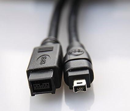 Comprehensive IEEE-1394B Firewire-800 9 Pin Plug to 6 Pin Plug 6 Cable.