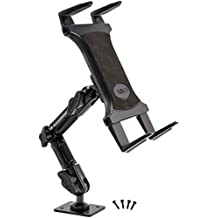 ARKON Heavy-Duty Tablet Wall Mount with 8-Inch Adjustable Arm and 4-Hole AMPS Drill Base for iPad Air/Galaxy Note 10.1 (TAB806)