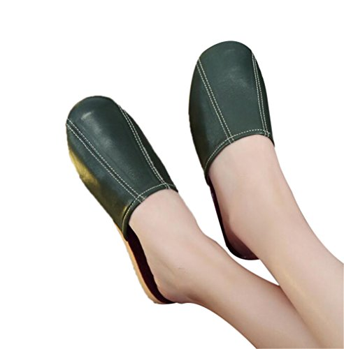 Autumn Floor Sheepskin Vert Men Summer For Women Comfortable Dermis Tellw Spring Slippers Leather Wooden W TfUUwq