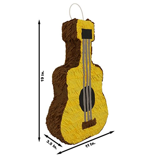 Guitar Pinata - Festive Brown Acoustic Classical Guitar Pinata - Mexican Piñata - Handmade in Mexico