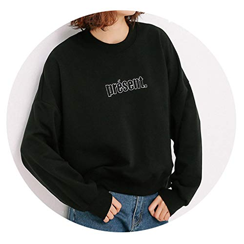 Sweatshirts Pullovers with Letter for Women Fashion Girls Casual Batwing Sleeve Tops Hoodies XXL,Black,L