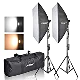 "Photo : Emart Photography Softbox Lighting Kit, Photo Equipment Studio Softbox 20"" x 27"", 45W Dimmable LED with Double Color Temperature for Portrait Video and Shooting"