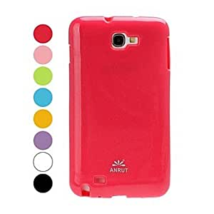 PEACH Solid Color Silicone Soft Case for Samsung Galaxy Note i9220 , Green