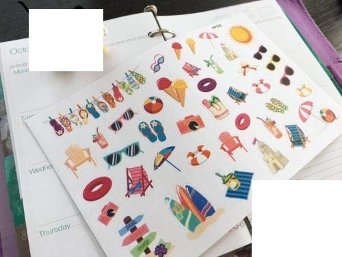 (Summer Beach Party Icons Planner Stickers for Erin Condren)