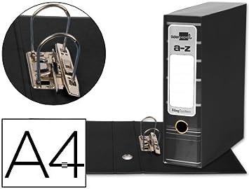 5 ARCHIVADORES DE PALANCA LIDERPAPEL A4 FILING SYSTEM NEGRO CON CAJA: Amazon.es: Oficina y papelería