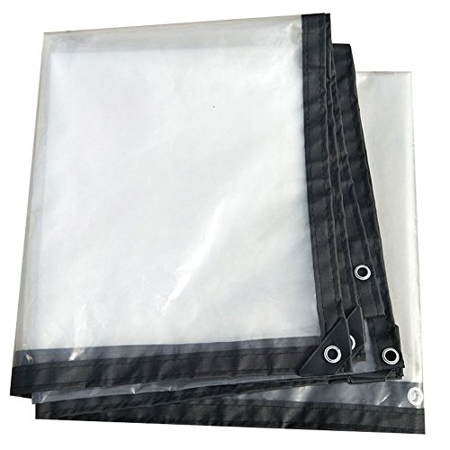 LIANGLIANG Tarpaulin Waterproof Heavy Duty Sheet Outdoor Rainproof Shading Tear Resistance With Metal Hole Eye Plastic PE, 24 Sizes (Color : Clear, Size : 2x5m) by LIANGLIANG-pengbu