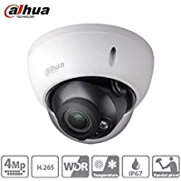 Dahua Dome Camera HDBW4431R-AS 2.8mm Lens 4MP Network IP Dome Camera IP67 Weaterproof H.265 PoE Security Surveillance Camera Support Audio & Alarm ONVIF International Version