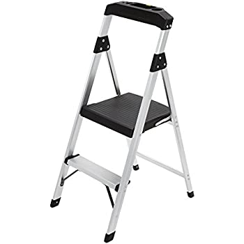 Amazon Com Gorilla Ladders 2 Step Aluminum Step Stool