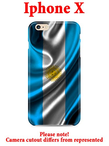 Hard Case Cover with Argentina Patriotic design for Iphone X 5.8in (argentina1)