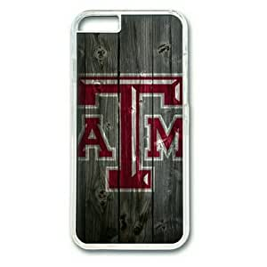 iPhone 6 Case,PC Hard Shell Transparent Cover Case for iPhone 6(4.7Inch) Texas AM Wood by Sallylotus by mcsharks