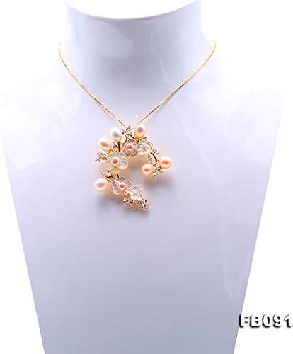 8,5/x/10/mm JYX Broche /à fleurs avec perles d/'eau douce