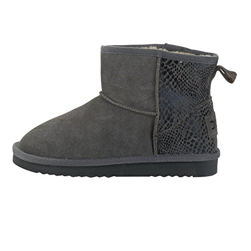 Dude Shoes Womens Sella Ladies Boot Piton Charcoal Suede Grey