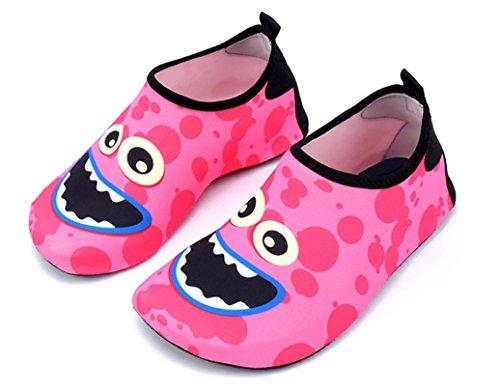 (Adorllya Toddler Baby Water Shoes Barefoot Aqua Socks Swim Shoes for Kids Boys Girls Beach Pool)