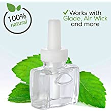 (3 Pack) - 3 100% Natural Fresh Peppermint Plug in refills - fits Glade, Air Wick, renuzit, and many other scented oil warmers
