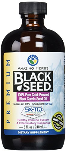 Amazing Herbs Premium Black Seed Oil, 8 Fluid Ounce(Packaging May ()