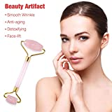 Jade Roller for Face, SHINYEVER 2 in 1 Gua Sha