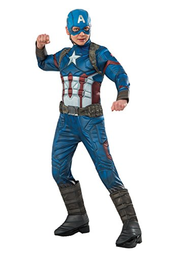 Captain America Elite Costume (Boys Elite Civil War Captain America Costume -)