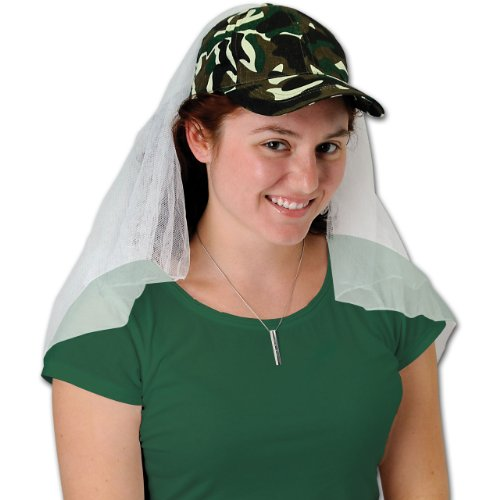 Camo Veil Cap Party Accessory (1 count) (1/Pkg)]()