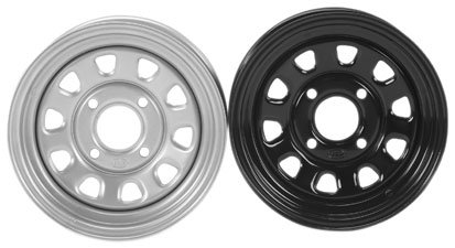 ITP Delta Steel Rear Wheel - 12x7 (2+5 offset) 4/110/Silver ()