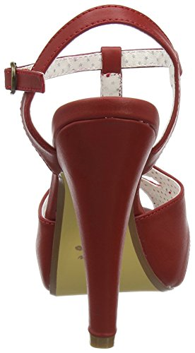 Couture Pinup Rpu Red Faux Sandal Women's Leather Platform Bett23 vvqxtZrndw