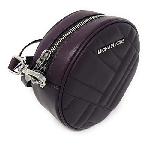 Michael Kors Vivianne Canteen Quilted Leather Crossbody Bag in Damson