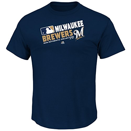 Youth MLB Authentic Collection Team Choice T-Shirt (Youth Xlarge 18/20, Milwaukee (Authentic Mlb Team Shirt)