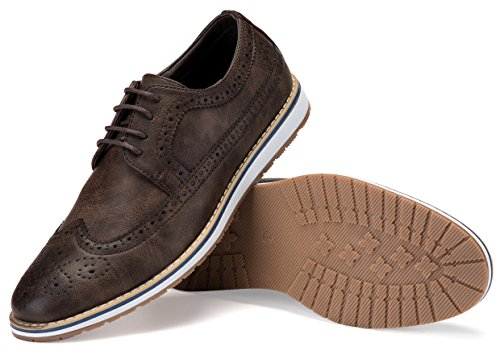 Mens Casual Shoes Classic Wingtip Oxford Business Dress Shoes for Men - in A Shoe -