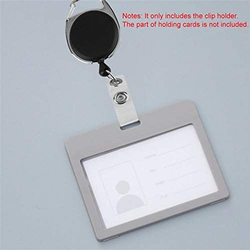 Appearancnes Black Retractable Reel Pull Key ID Card Badge Tag Belt Clip Chain Holder Metal Housing Plastic Covers Carabiner Style