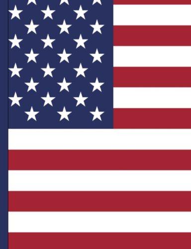 Bandera americana patriótica Composición libro: Dot Grid Papel, 200+ Páginas, perfecto para la escuela o de Trabajo,...