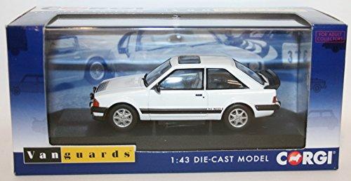 corgi vanguards ford escort MK3 RS1600I white car 1.43 scale diecast model