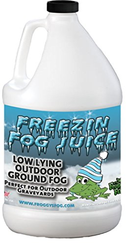 Fog For Fog Machine (Freezin Fog Outdoor Low Lying Ground Fog Juice Machine Fluid - 1 Gallon - The Haunted House Owner's Choice for Outdoor Graveyard Fog)