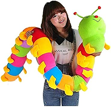 ALISHA TOYS Very Cute and Beautiful Soft Caterpillar Teddy Bear Soft Toy for Kids / Girls / Gifting / Valentine / Anniversary / Birthday / Kids (Multicolor) - 125 cm - 4 feet