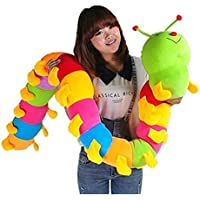 ALISHA TOYS Very Cute and Beautiful Soft Caterpillar Teddy Bear Soft Toy for Kids / Girls / Gifting / Valentine / Anniversary / Birthday / Kids (Multicolor) - 145 cm - 4 feet