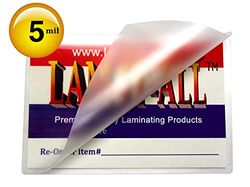 Key Card Laminating Pouches 5 Mil 2-1/2 X 3-7/8 Laminator Sleeves Qty 100 by LAM-IT-ALL